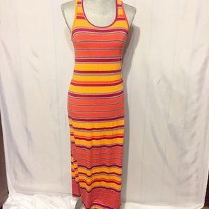 Small Cynthia Rowley Striped Racerback Maxi Dress